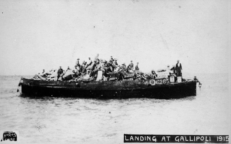 Landing at Gallipoli - World War 1 - Hamilton City Libraries
