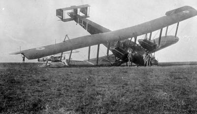 World War 1 - R.F.C. - Hardley Page - crashed aircraft