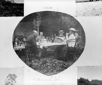 Douglas family eating al fresco