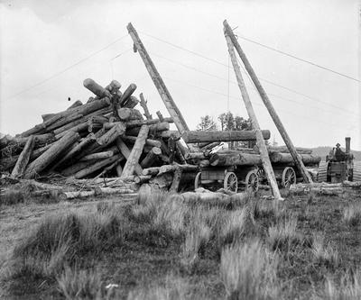 Unloading logs