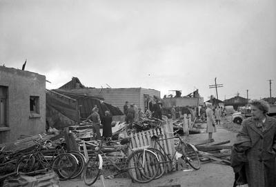 Houses destroyed by Frankton tornado