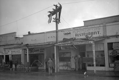Retail shops hit by Frankton tornado