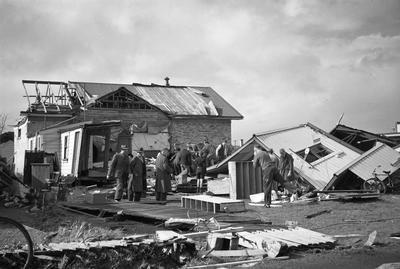 Building destroyed by Frankton tornado