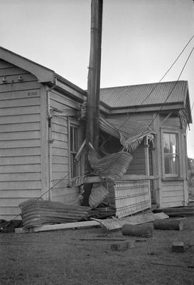 Porch of house destroyed by the Frankton tornado