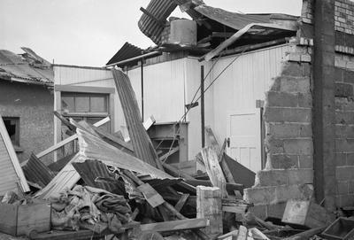 Building damaged by Frankton tornado