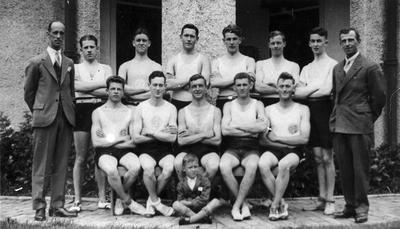 Hamilton Harriers Club members 1949