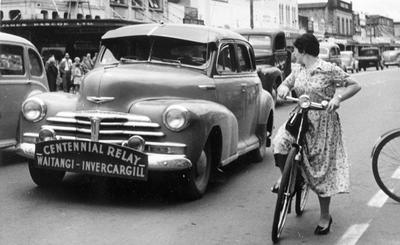 Centennial relay race event 1952