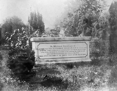 The tombstone of Jane Graham