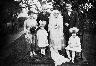 Wedding photo of R.S.A. Graham and Hilda McLeod.