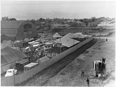 Waikato Winter Show during removal of Garden Place Hill