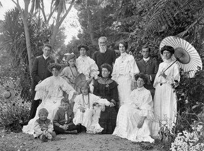 The Graham family on Christmas Day 1905