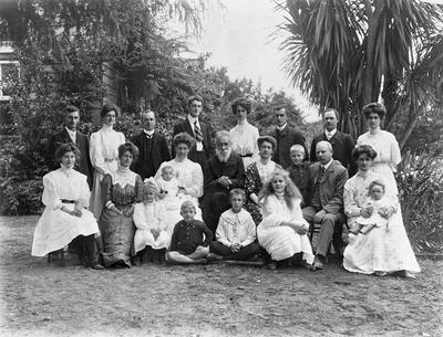 The Graham family on Christmas Day 1908