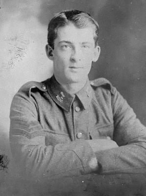 Cedric Graham in Military Uniform