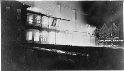 Hamilton Hotel ablaze