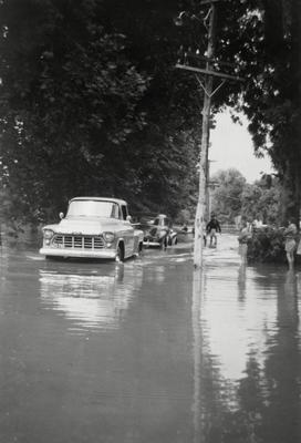 Hillsborough Terrace in flood