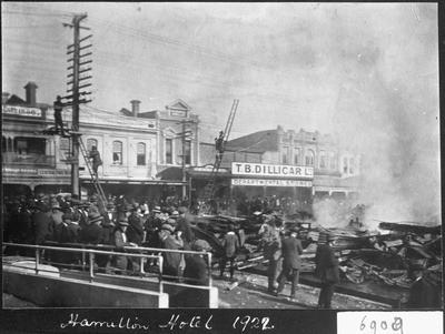 1922 Hamilton Hotel fire aftermath