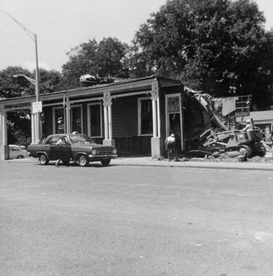 Royal Hotel being demolished