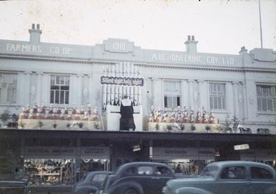 F.A.C. building with Christmas decorations