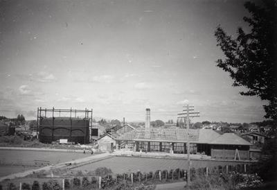 Hamilton Bowling Club and Hamilton gasworks
