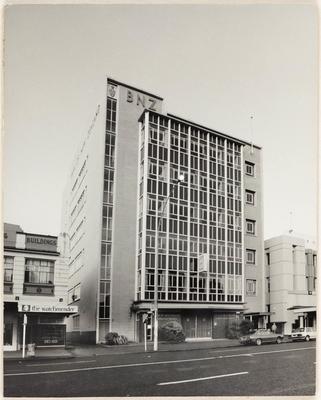 1966 Bank of New Zealand (BNZ) Hamilton Branch building on Victoria Street