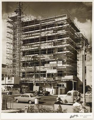 Bank of New Zealand (BNZ) building under construction c. 1963