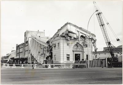 Demolition of the National Bank building