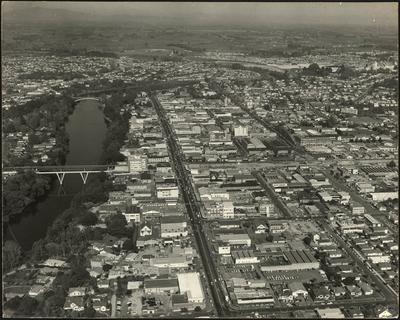 Aerial of Hamilton's CBD and beyond