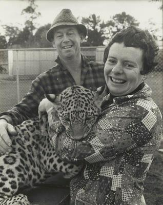 Murray and Gloria Powell with leopard cub