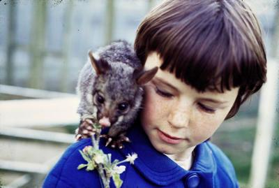 Robyn Powell with pet possum