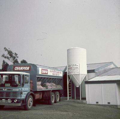 Hilldale - truck delivering feed