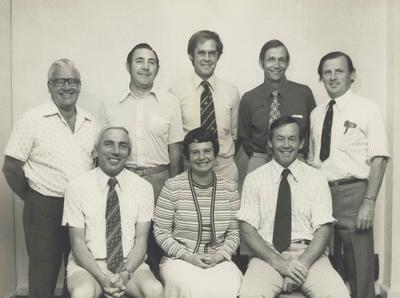 Murray and Gloria Powell (right front and centre front) and members of the Hilldale Zoological Trust