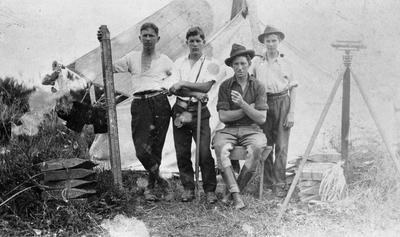 Four pioneer survey hands