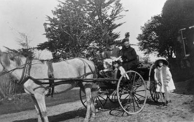 Mr & Mrs W.H. Wallis with Picken girls at Tainui
