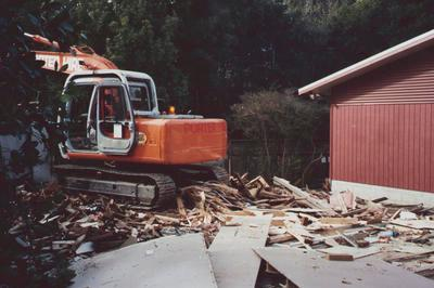 Demolition of an early shed