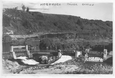 Horahora Power Station spillways