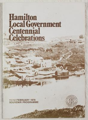 Centenary celebrations : 100 years of local government 1878-1978