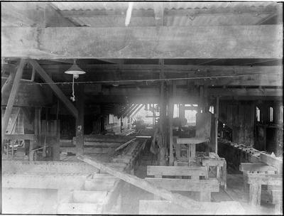 Manunui mill interior, 1917