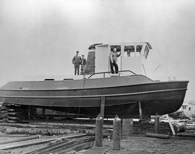 Kaitoa boat prior to launching at Mercer