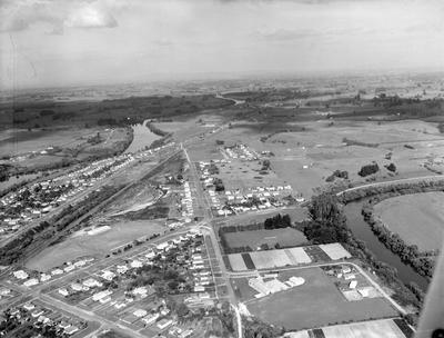 Aerial view of Ngaruawahia