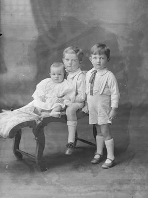 Two small boys and baby