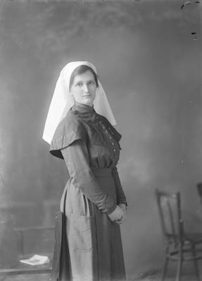 Portrait of a woman in nurse's uniform