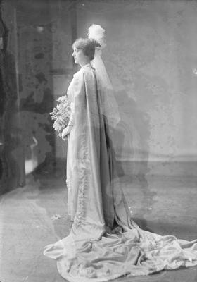 Full length portrait of bride