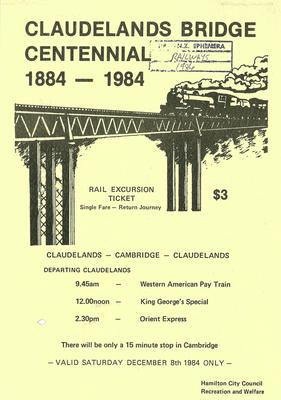 Claudelands bridge centennial