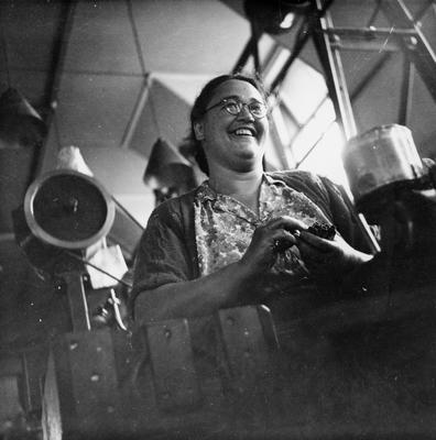 Woman working in a Hamilton ammunition factory during World War II