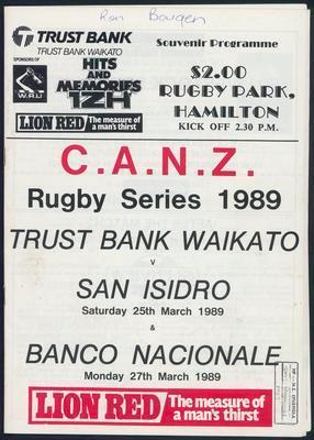 Trustbank Waikato v San Isidro & Banco Nacionale