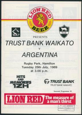 Trustbank Waikato v Argentina
