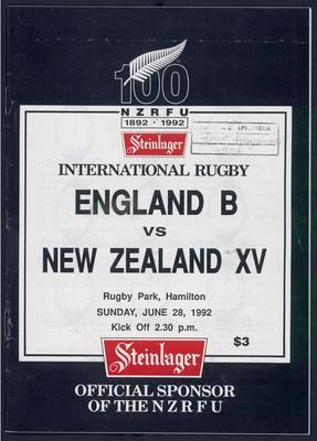 England B v New Zealand XV