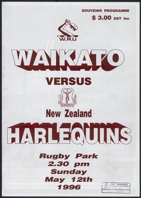 Waikato versus New Zealand Harlequins
