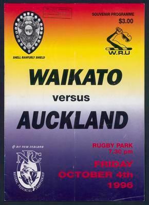 Waikato versus Auckland