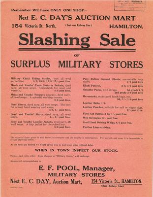 Military Stores sale